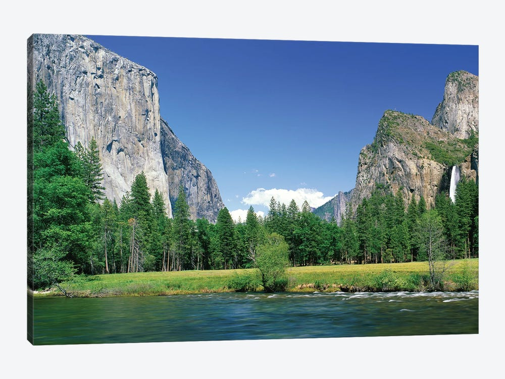 Bridal Veil Falls, Yosemite National Park, California, USA by Panoramic Images 1-piece Art Print