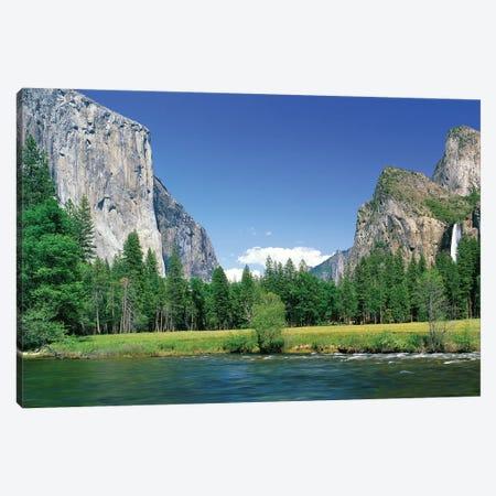 Bridal Veil Falls, Yosemite National Park, California, USA Canvas Print #PIM14310} by Panoramic Images Art Print