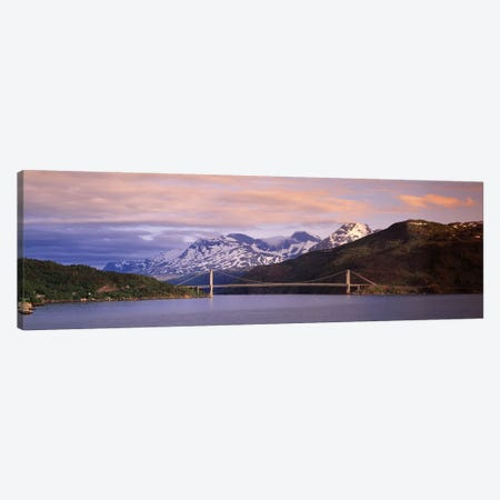 Bridge Across A River, Fjord, Norway Canvas Print #PIM14311} by Panoramic Images Canvas Print