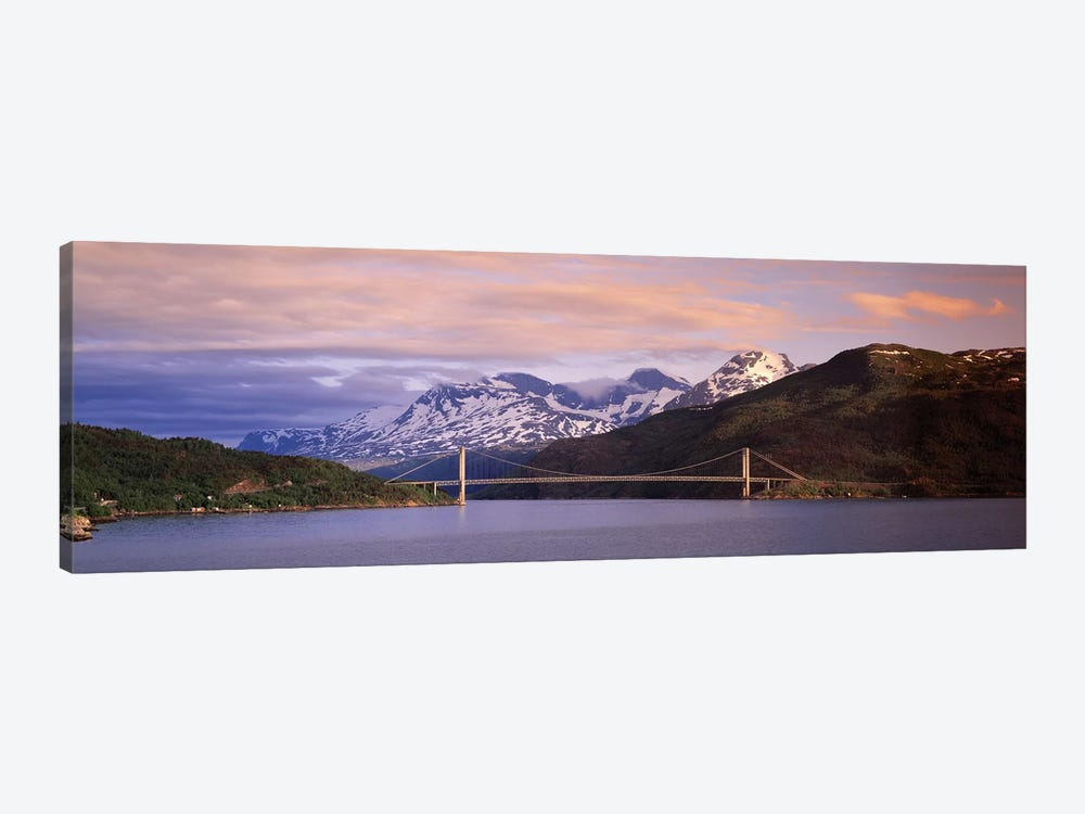 Bridge Across A River, Fjord, Norway by Panoramic Images 1-piece Canvas Wall Art