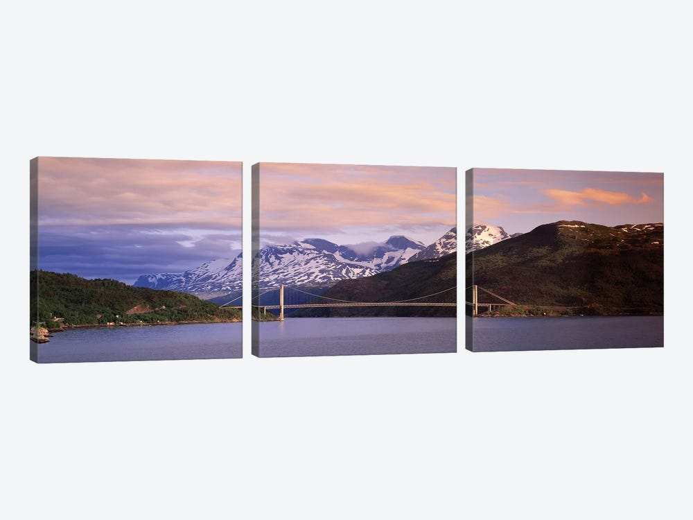 Bridge Across A River, Fjord, Norway by Panoramic Images 3-piece Canvas Artwork