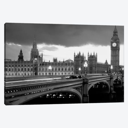 Bridge Across A River, Westminster Bridge, Houses Of Parliament, Big Ben, London, England Canvas Print #PIM14312} by Panoramic Images Art Print