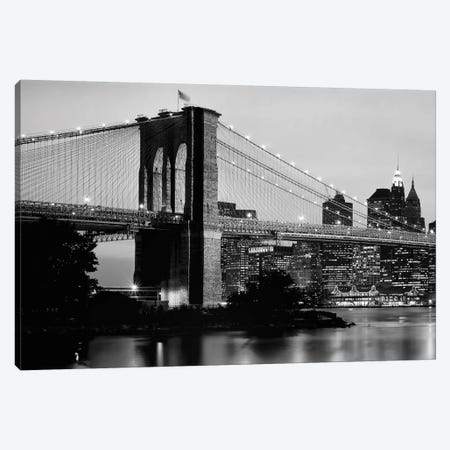 Brooklyn Bridge Across The East River At Dusk, Manhattan, New York City, New York State, USA Canvas Print #PIM14314} by Panoramic Images Canvas Wall Art