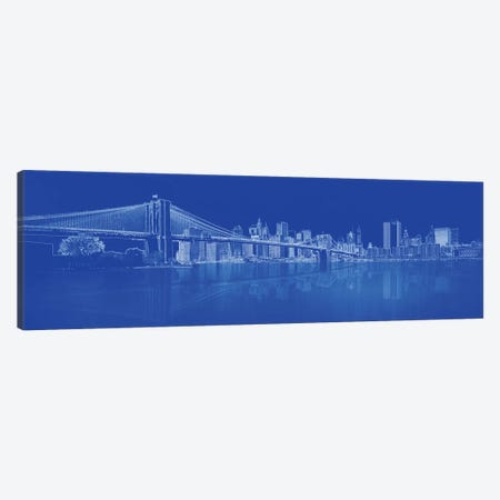 Brooklyn Bridge Over East River, New York City, USA I Canvas Print #PIM14315} by Panoramic Images Canvas Artwork