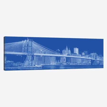Brooklyn Bridge Over East River, New York City, USA II Canvas Print #PIM14316} by Panoramic Images Canvas Wall Art