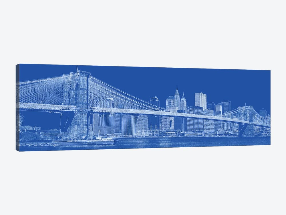 Brooklyn Bridge Over East River, New York City, USA II by Panoramic Images 1-piece Canvas Print