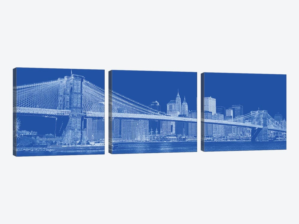 Brooklyn Bridge Over East River, New York City, USA II by Panoramic Images 3-piece Canvas Print