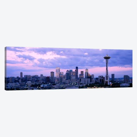 Skyscrapers in a city, Seattle, Washington State, USA Canvas Print #PIM1431} by Panoramic Images Canvas Wall Art