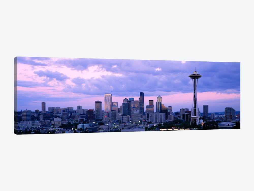 Skyscrapers in a city, Seattle, Washington State, USA by Panoramic Images 1-piece Canvas Print