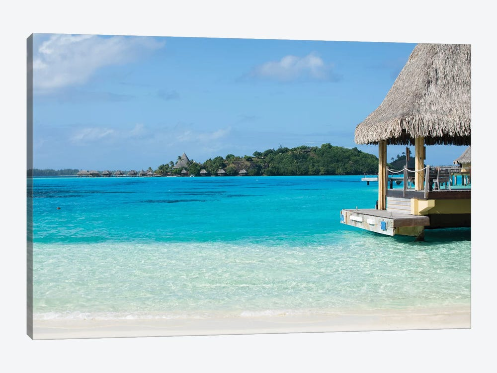 Bungalows On The Beach, Bora Bora, Society Islands, French Polynesia II 1-piece Canvas Art