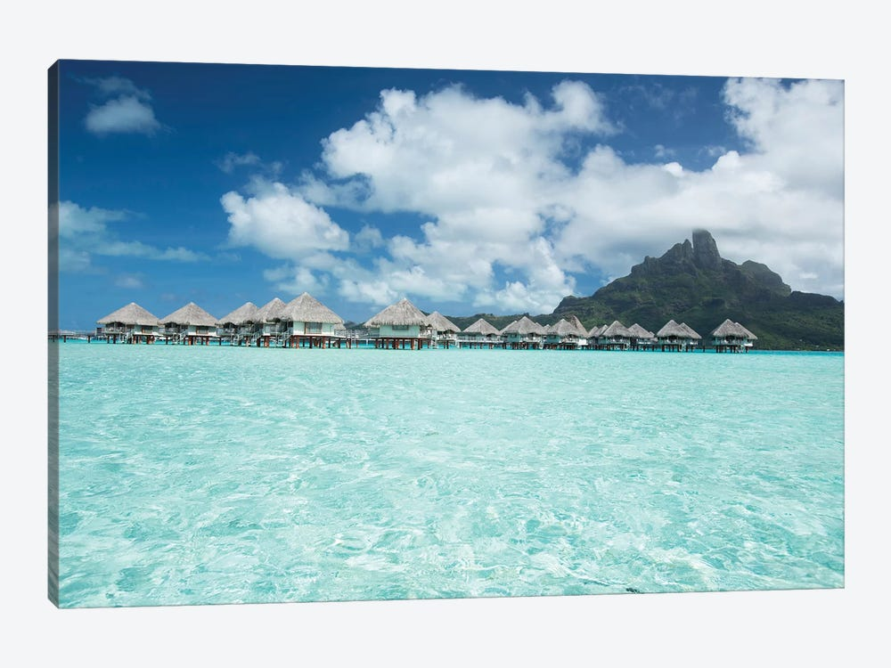 Bungalows On The Beach, Bora Bora, Society Islands, French Polynesia III by Panoramic Images 1-piece Canvas Print