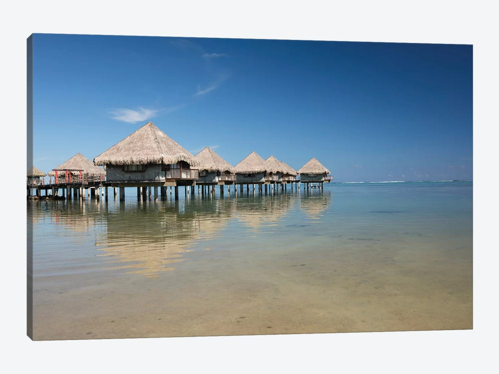 Bungalows On The Beach, Moorea, Tahiti, French Polynesia by Panoramic Images 1-piece Canvas Artwork