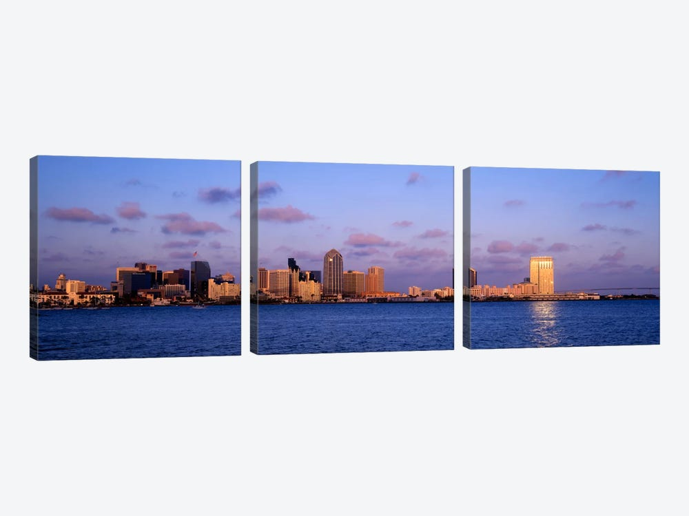 Sunset, San Diego, California, USA by Panoramic Images 3-piece Canvas Artwork