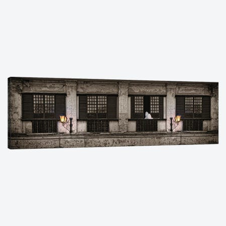 Cat Sitting On Window Sill Of Building, Vigan, Ilocos Sur, Philippines, Day Canvas Print #PIM14332} by Panoramic Images Canvas Art Print