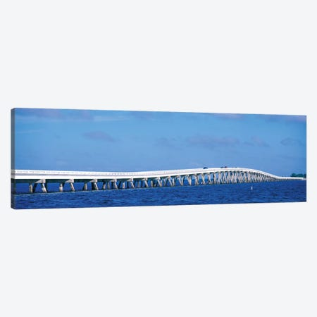 Causeway Over Atlantic Ocean, Sanibel Causeway, Sanibel Island, Florida, USA Canvas Print #PIM14334} by Panoramic Images Canvas Wall Art