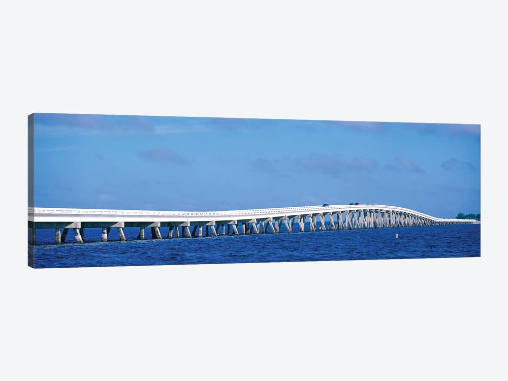 Causeway Over Atlantic Ocean, Sanibel Causeway, Sanibel Island, Florida, USA by Panoramic Images 1-piece Canvas Print