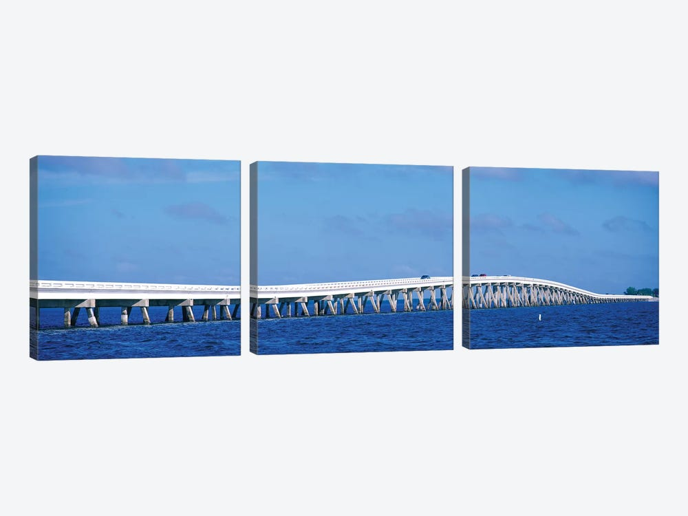Causeway Over Atlantic Ocean, Sanibel Causeway, Sanibel Island, Florida, USA by Panoramic Images 3-piece Art Print