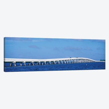 Causeway Over Atlantic Ocean, Sanibel Causeway, Sanibel Island, Florida, USA Canvas Print #PIM14334} by Panoramic Images Canvas Wall Art