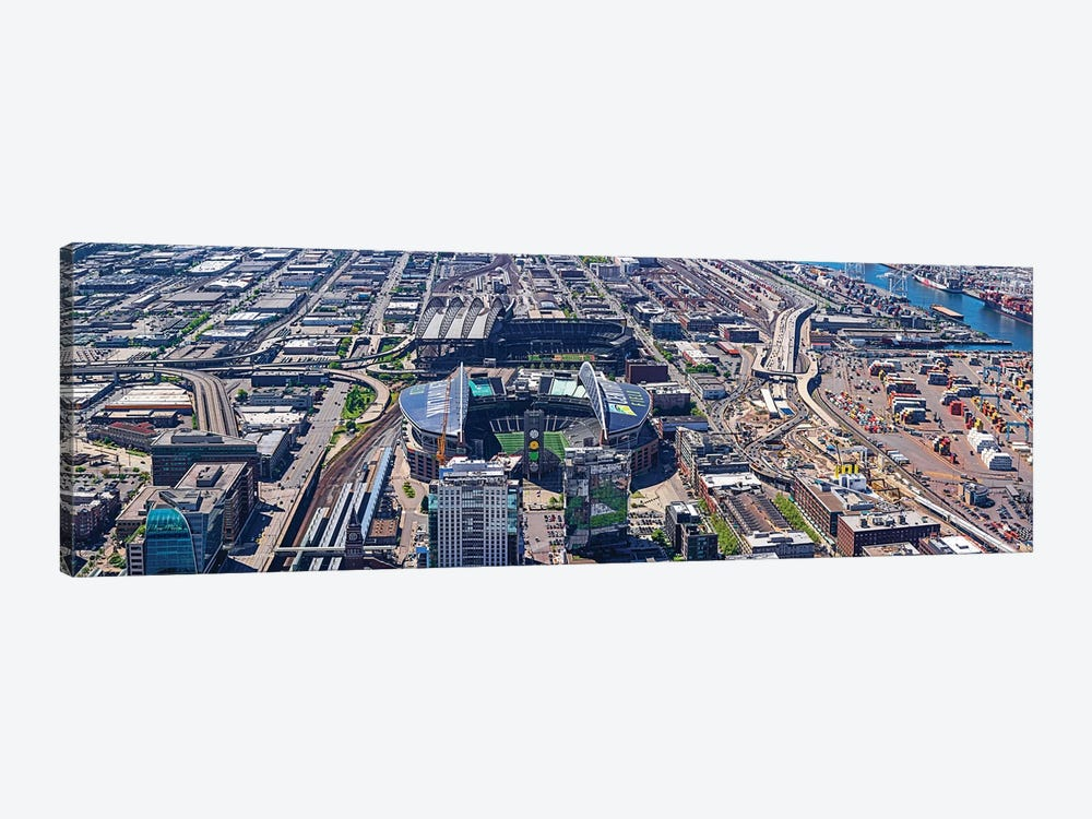 Centurylink Field And Safeco Field From Sky View Observatory - Columbia Center, Seattle, Washington State, USA by Panoramic Images 1-piece Canvas Artwork