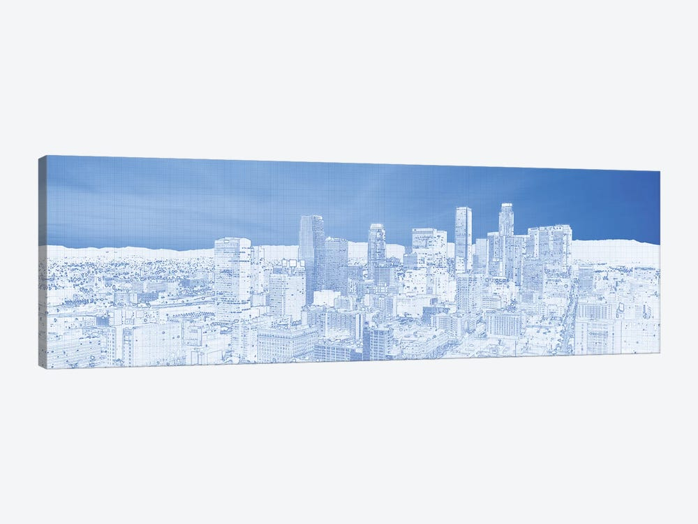 City Of Los Angeles, Los Angeles County, California, USA by Panoramic Images 1-piece Canvas Artwork
