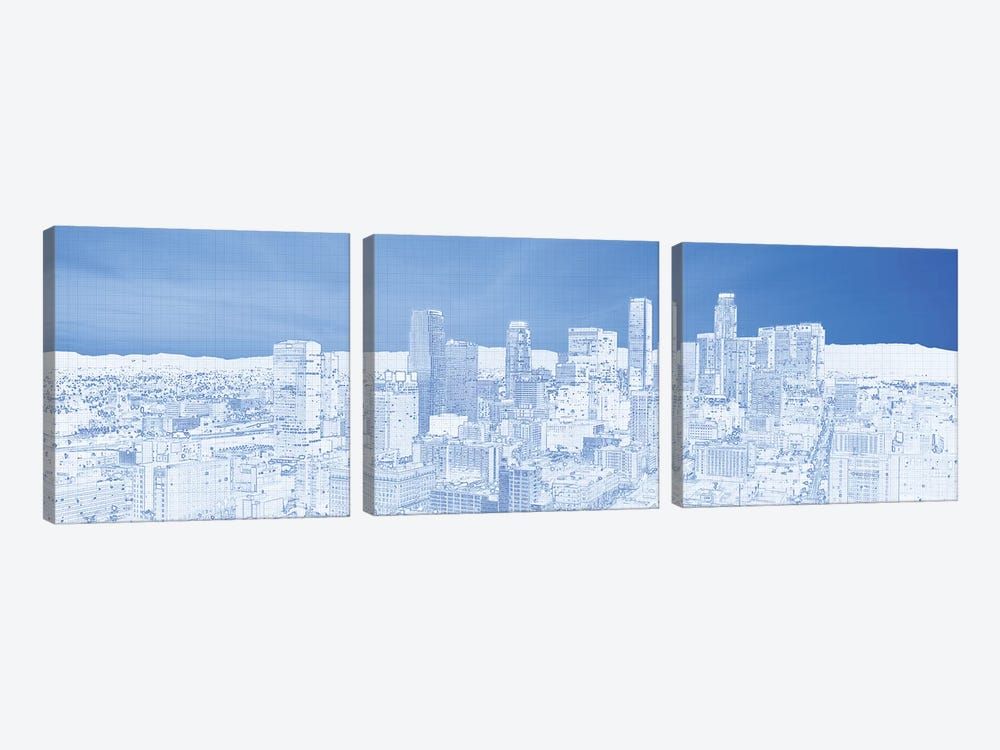 City Of Los Angeles, Los Angeles County, California, USA by Panoramic Images 3-piece Canvas Artwork
