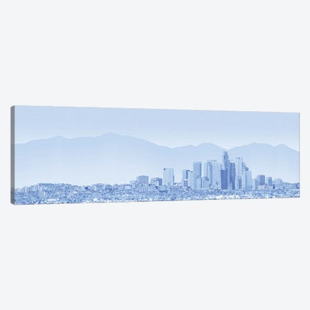 City Of Los Angeles, San Gabriel Mountains In Background, California, USA Canvas Print #PIM14349} by Panoramic Images Canvas Artwork
