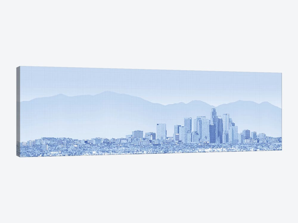 City Of Los Angeles, San Gabriel Mountains In Background, California, USA by Panoramic Images 1-piece Canvas Print