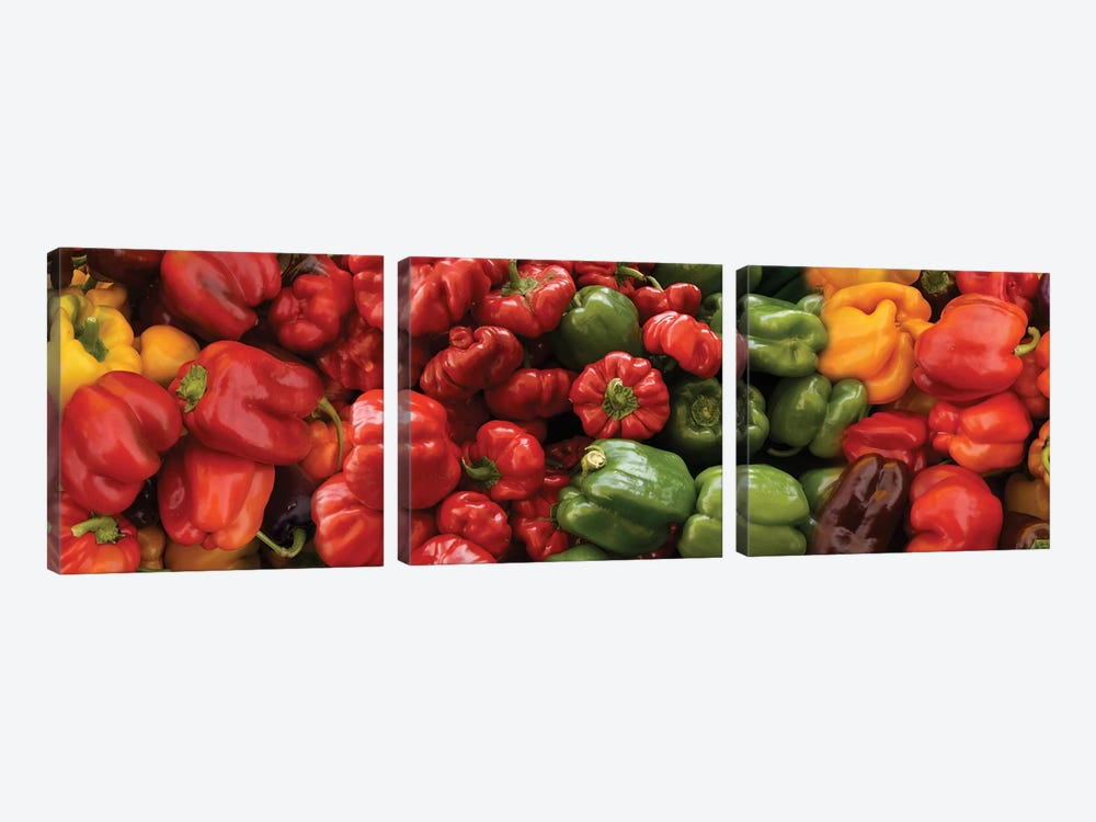 Close-Up Of Assorted Pepper For Sale At Market I by Panoramic Images 3-piece Canvas Artwork