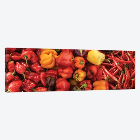Close-Up Of Assorted Pepper For Sale At Market III Canvas Print #PIM14370} by Panoramic Images Art Print