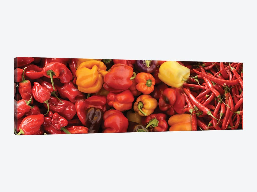 Close-Up Of Assorted Pepper For Sale At Market III by Panoramic Images 1-piece Canvas Art Print