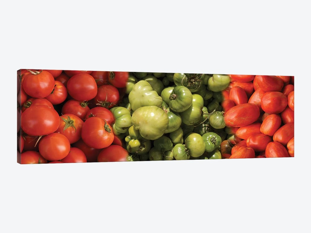 Close-Up Of Assorted Tomatoes by Panoramic Images 1-piece Art Print