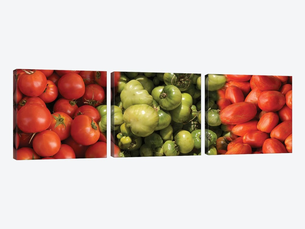 Close-Up Of Assorted Tomatoes by Panoramic Images 3-piece Art Print