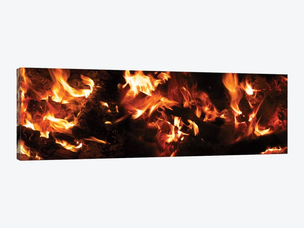 Close-Up Of Bonfire At Night I by Panoramic Images 1-piece Art Print
