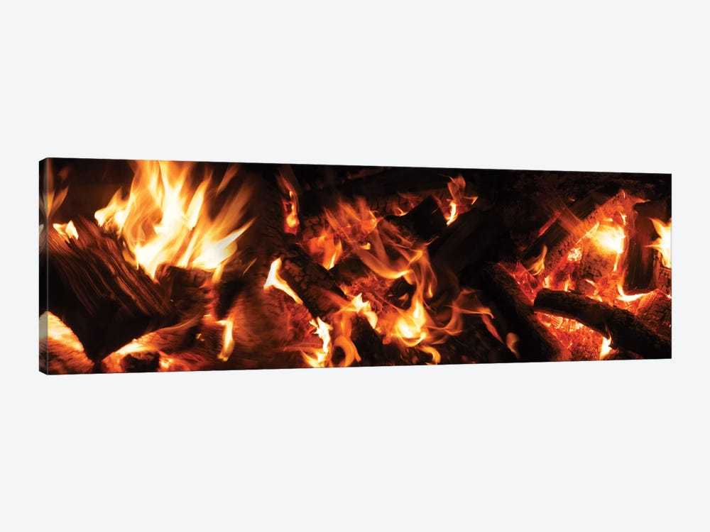 Close-Up Of Bonfire At Night II by Panoramic Images 1-piece Canvas Wall Art