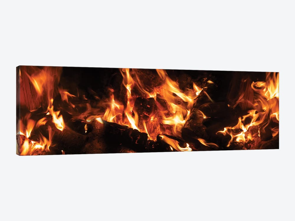 Close-Up Of Bonfire At Night III by Panoramic Images 1-piece Canvas Print