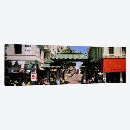 USA, California, San Francisco, Chinatown, Tourists in the market Canvas Print #PIM143} by Panoramic Images Canvas Art Print