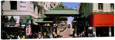 USA, California, San Francisco, Chinatown, Tourists in the market Canvas Print #PIM143