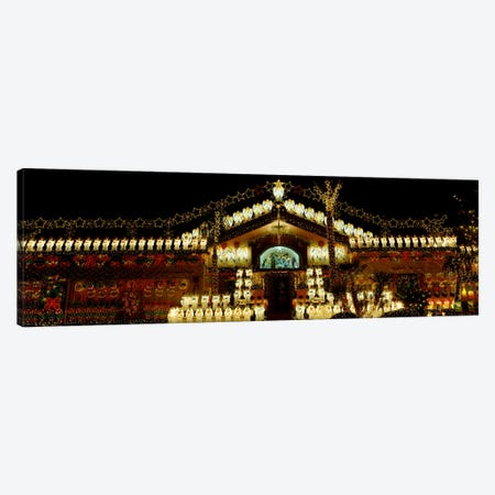 Low angle view of a house decorated with Christmas lights, Phoenix, Arizona, USA Canvas Print #PIM1441} by Panoramic Images Art Print