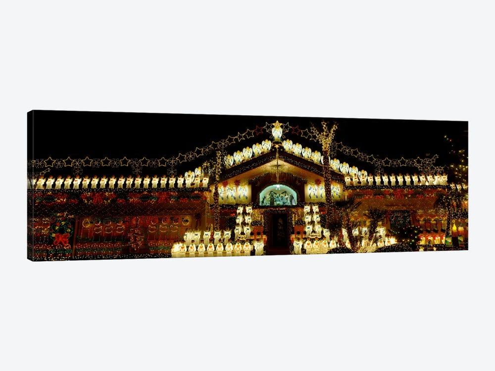 Low angle view of a house decorated with Christmas lights, Phoenix, Arizona, USA by Panoramic Images 1-piece Canvas Art