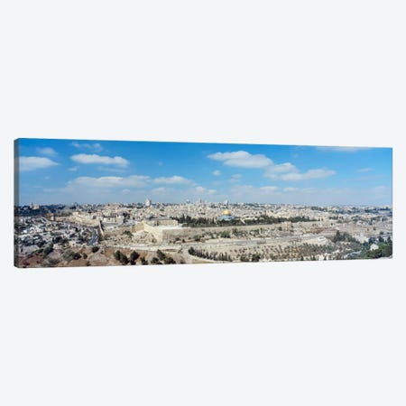 Ariel View Of The Western Wall, Jerusalem, Israel Canvas Print #PIM1447} by Panoramic Images Canvas Artwork
