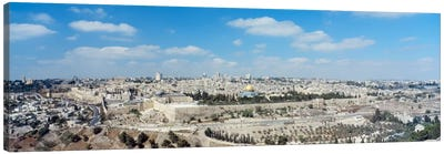 Ariel View Of The Western Wall, Jerusalem, Israel Canvas Print #PIM1447