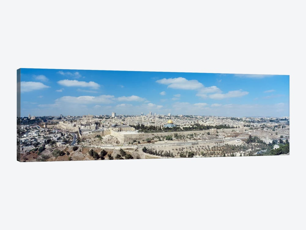 Ariel View Of The Western Wall, Jerusalem, Israel by Panoramic Images 1-piece Canvas Wall Art