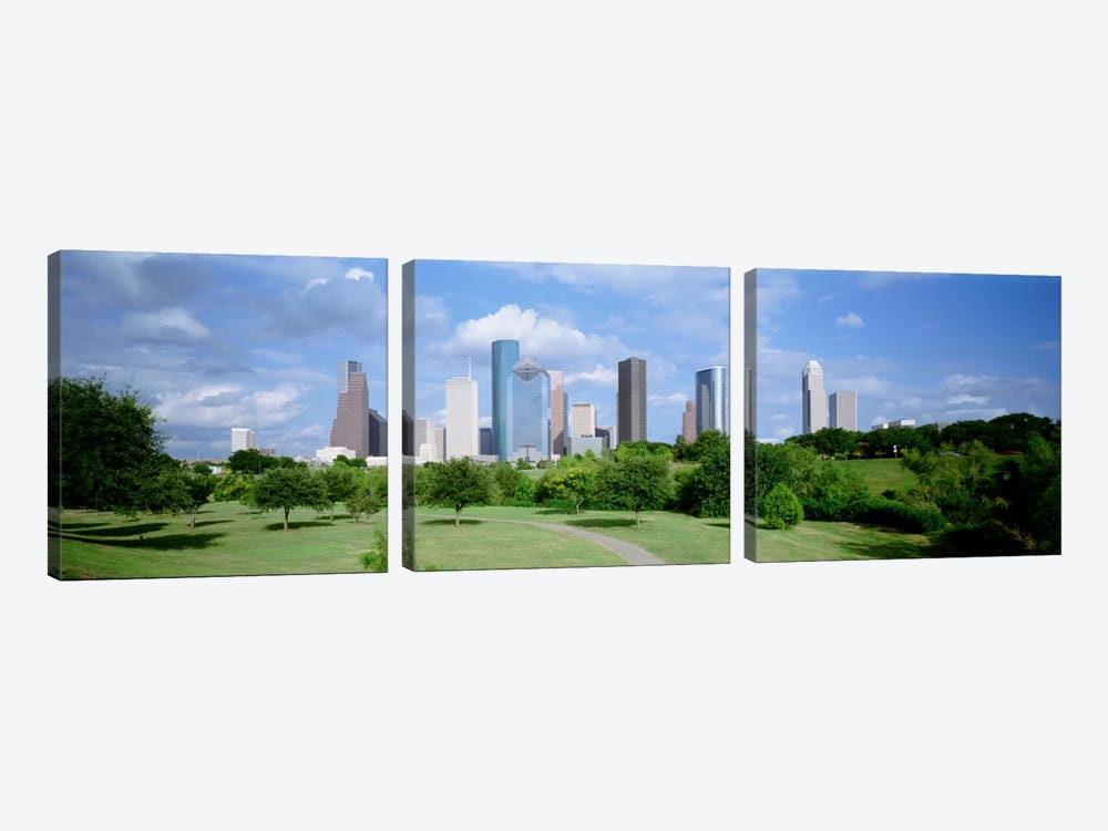 Cityscape, Houston, TX by Panoramic Images 3-piece Canvas Wall Art