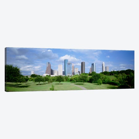 Cityscape, Houston, TX Canvas Print #PIM1449} by Panoramic Images Art Print