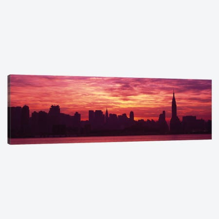 Hudson River New YorkNYC, New York City, New York State, USA Canvas Print #PIM1451} by Panoramic Images Canvas Art