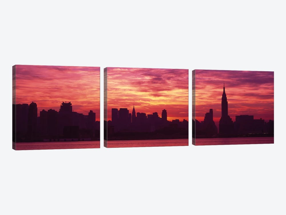 Hudson River New YorkNYC, New York City, New York State, USA by Panoramic Images 3-piece Canvas Art Print