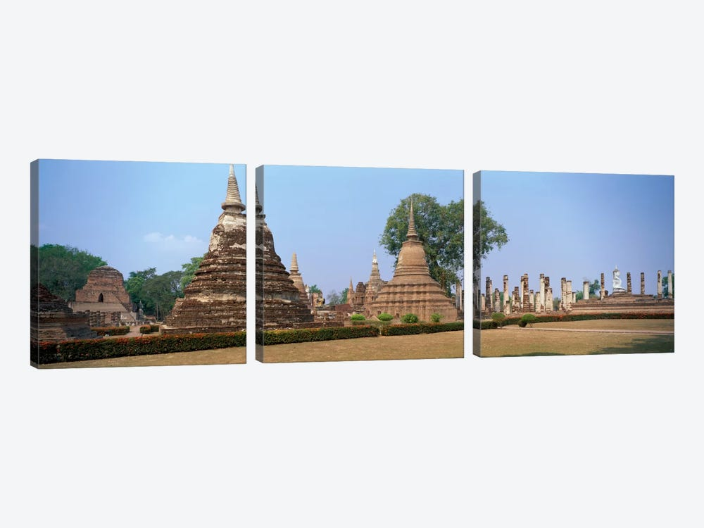 Sukhothai Historical Park Thailand by Panoramic Images 3-piece Canvas Artwork
