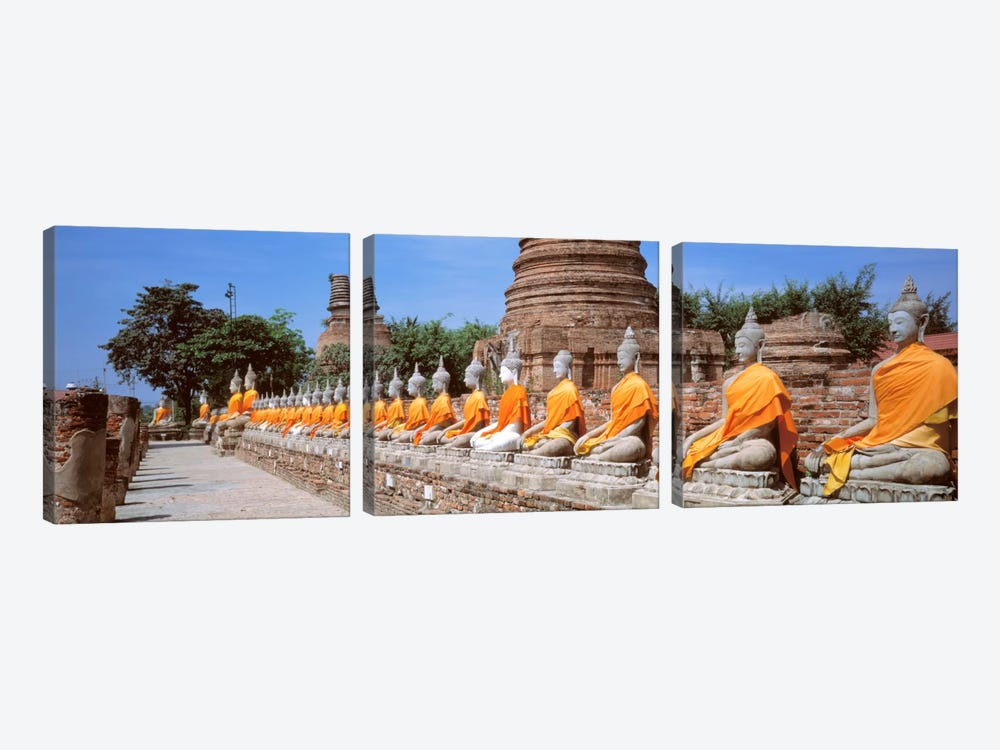 Ayutthaya Thailand by Panoramic Images 3-piece Canvas Print