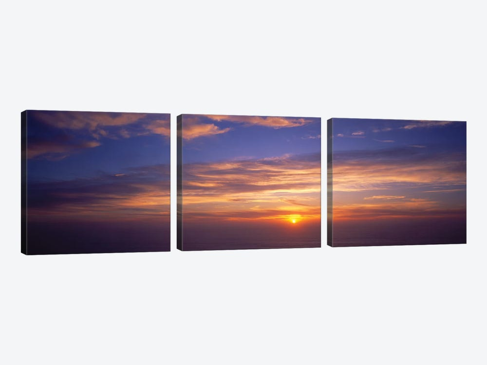 Clouds In The Sky At Sunset, California, USA by Panoramic Images 3-piece Art Print