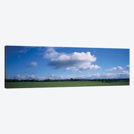 Clouds Over A Field, Upstate New York, USA Canvas Print #PIM14571} by Panoramic Images Canvas Print